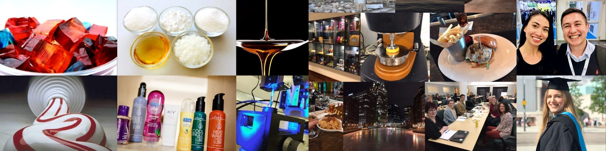 Collage of products and tests
