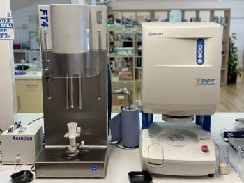 A powder rheometer and powder flow tester